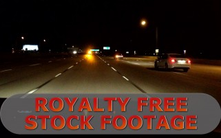 POV Freeway Night Time Lapse HD Stock Footage Royalty Free