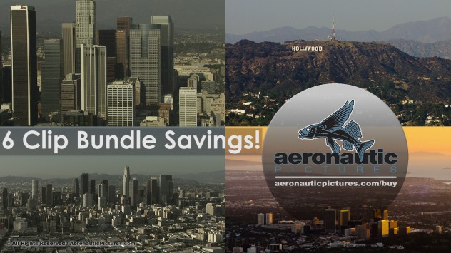 Los Angeles Aerial Stock Footage HD Bundle Download