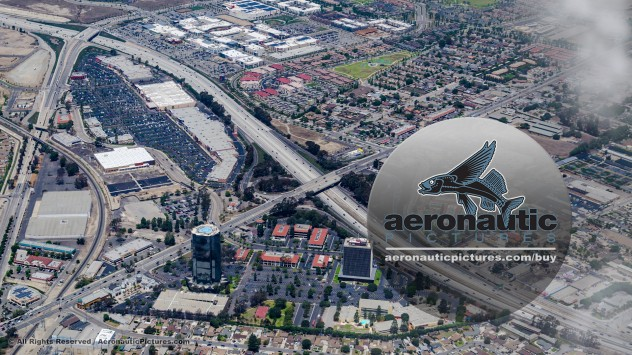 Oxnard Aerial Stock Footage - Oxnard Financial Plaza and Collection Mall - River Park
