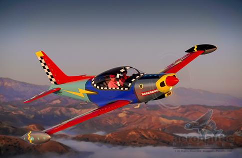 Siai-Marchetti SF-260 Airplane Stock Photo