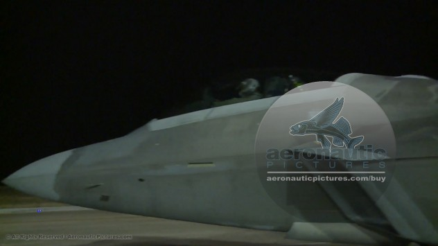 Military Stock Footage F-22 Raptor Stealth Fighter Jet Night HD