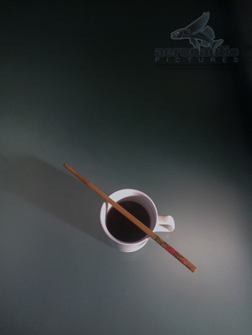 Coffee Stock Photo - Morning Coffee and Chopstick - Food Stock Photos
