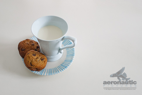 Food Stock Photo - A Glass of Milk and Two Cookies Download Royalty Free