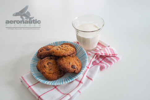 Food Stock Photo - Homemade Cookies and a Glass of Fresh Milk Download Royalty Free