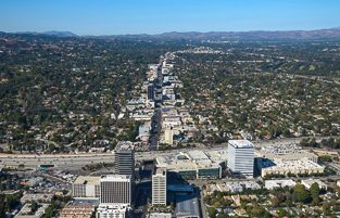 Sherman Oaks Aerial View Stock Photo