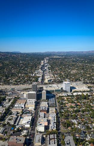 Sherman Oaks Aerial View Stock Photo